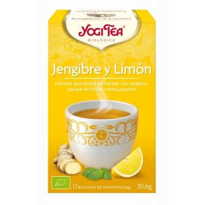 Infusión depurativa de jengibre y limón